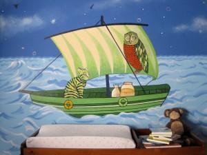 nursery, murals, illustrated poem, baby rooms